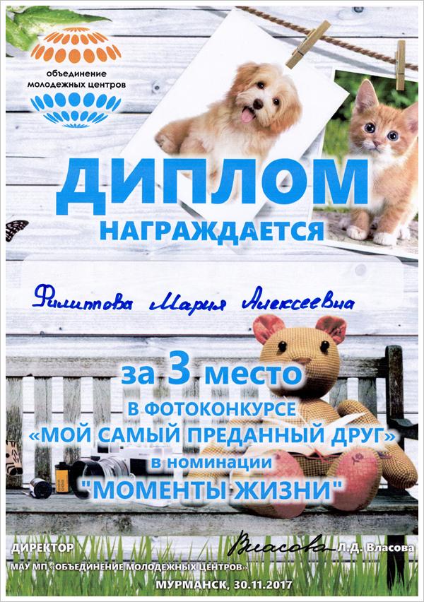 Фотоконкурс «Мой самый преданный друг» (г. Мурманск), МТКС