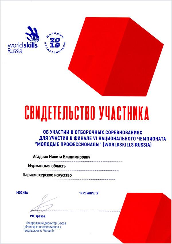 Отборочные соревнования для участия в Финале VI Национального Чемпионата «Молодые профессионалы (WorldSkills Russia)», МТКС